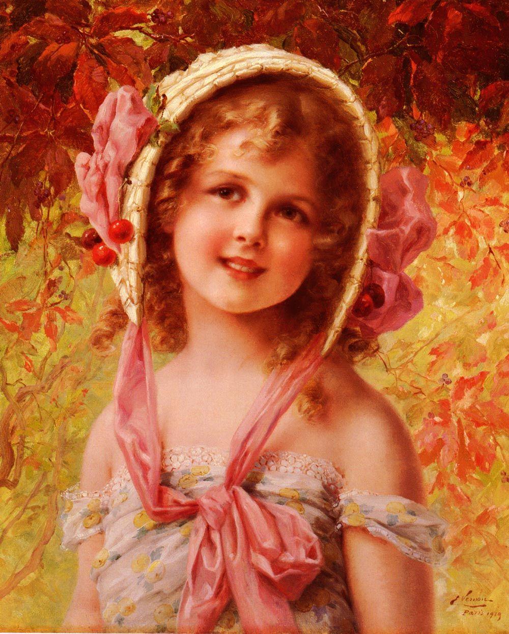 The Cherry Bonnet by Emile Vernon