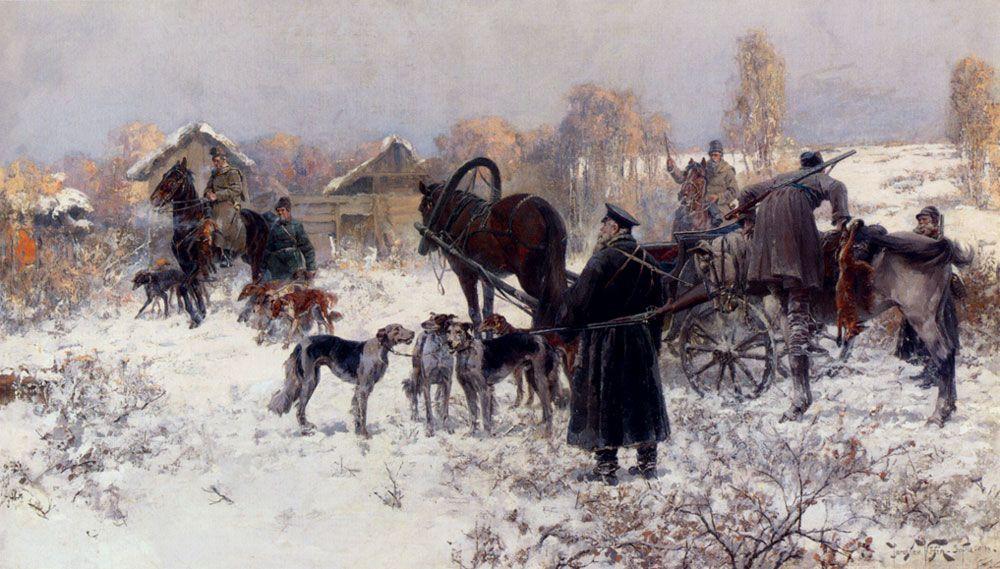 The Hunting Party by Jaroslav Fr Julius Vesin