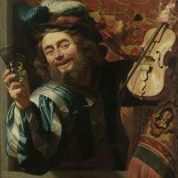 The Merry Fiddler by Gerrit van Honthorst