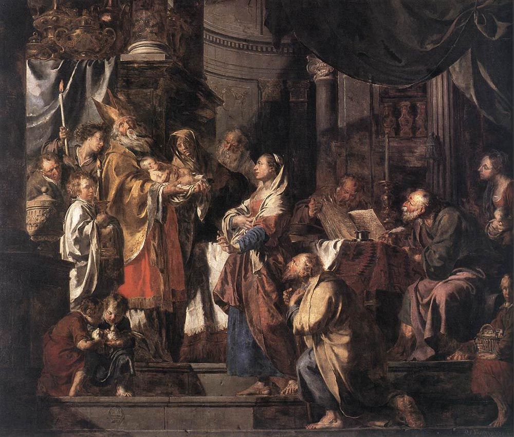 The Presentation in the Temple by Pieter Jozef Verhaghen