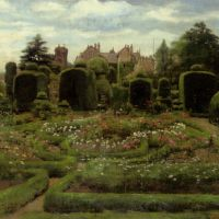 The Topiary Gardens Levens Hall Cumbria by Walter Frederick Roofe Tyndale