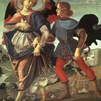 Tobias and the Angel by Andrea del Verrocchio