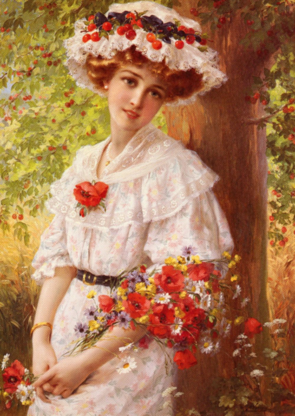 Under the Cherry Tree by Emile Vernon