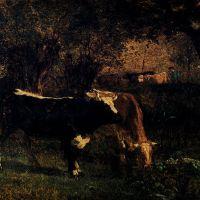 Vaches A L'Abreuvoir by Constant Troyon