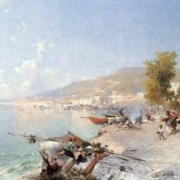 Vietri Sul Mare, Looking Towards Salerno by Franz Richard Unterberger