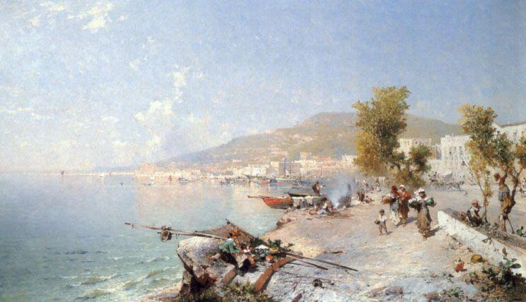 Vietri Sul Mare Looking Towards Salerno by Franz Richard Unterberger