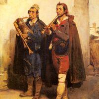 Village Musicians by Horace Vernet
