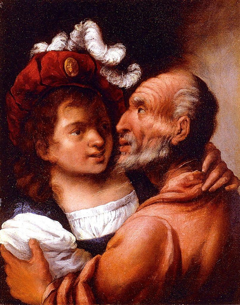 Youth And Old Age by Pietro Della Vecchia