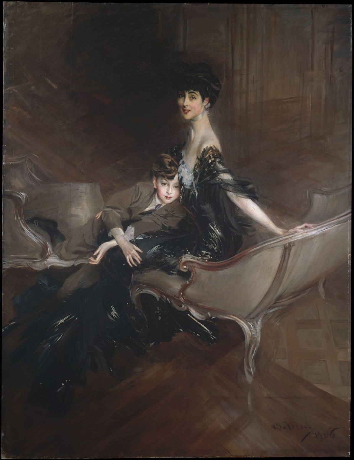 Consuelo, Duchess of Marlborough, with Her Son Ivor Spencer-­Churchill by Giovanni Boldini