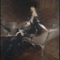 Consuelo, Duchess of Marlborough, with Her Son Ivor Spencer-Churchill by Giovanni Boldini