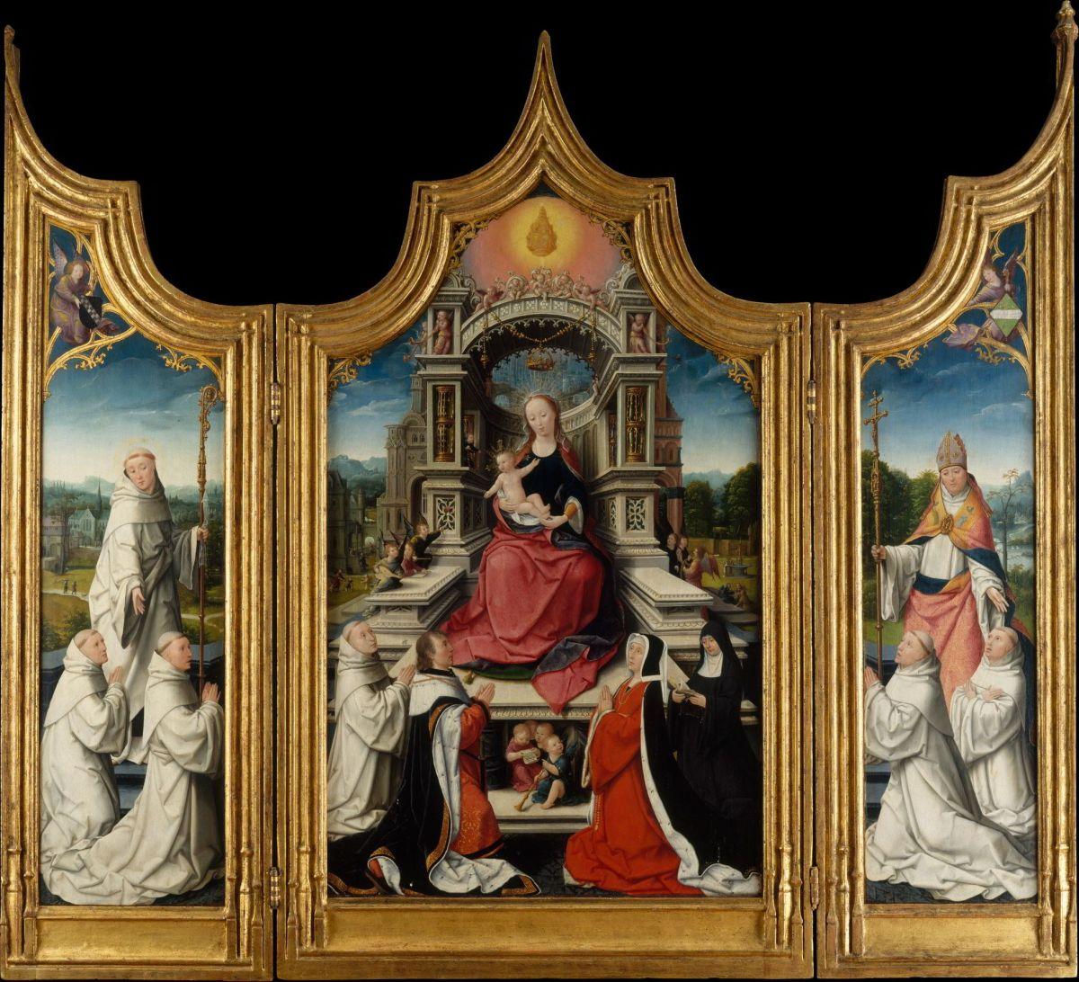 The Le Cellier Triptych by Jean Bellegambe the Elder