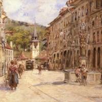 A Street Scene in Bern by Georges Stein