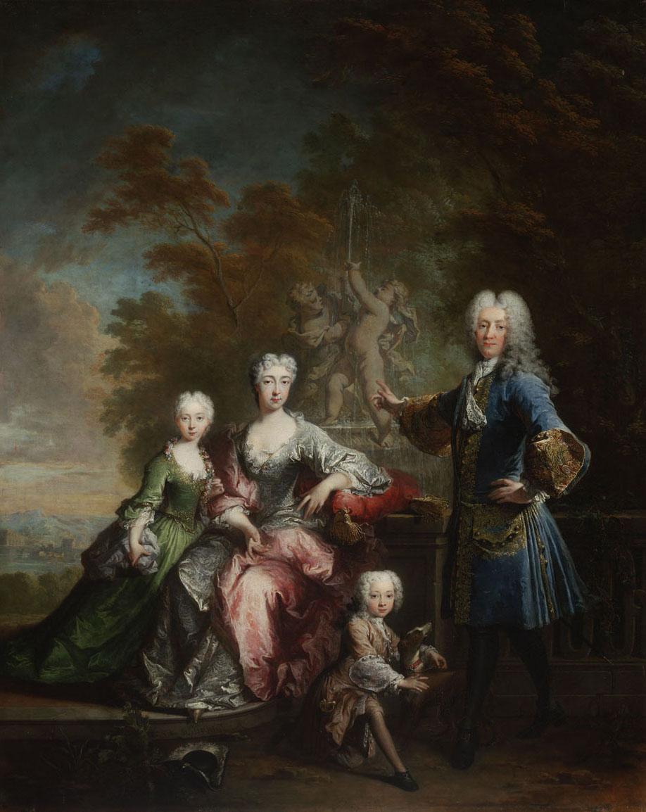 Count Ferdinand Adolf von Plettenberg and his Family by Robert Tournieres