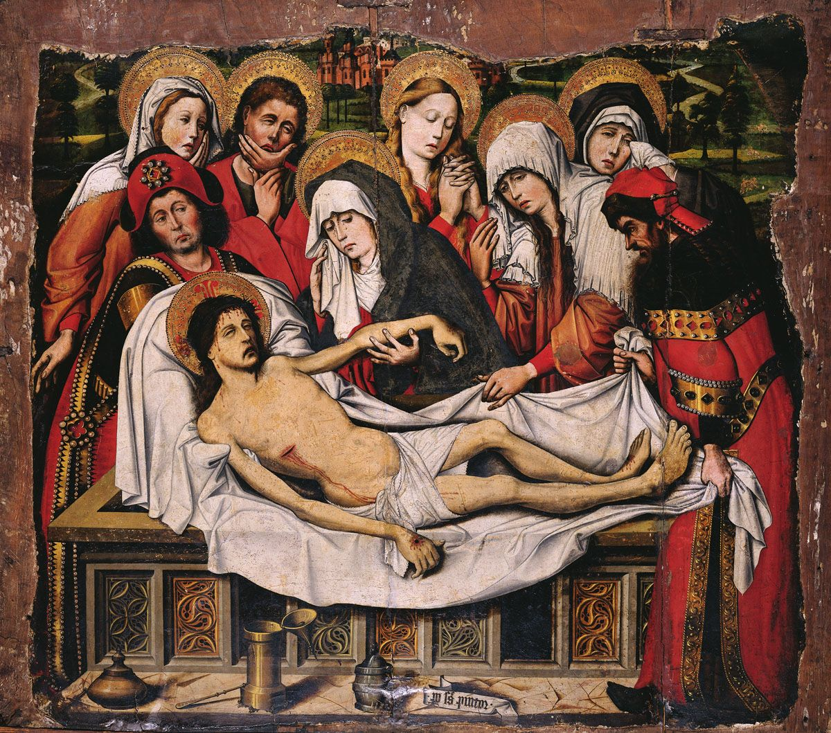Entombment of Christ by Pedro Sanchez
