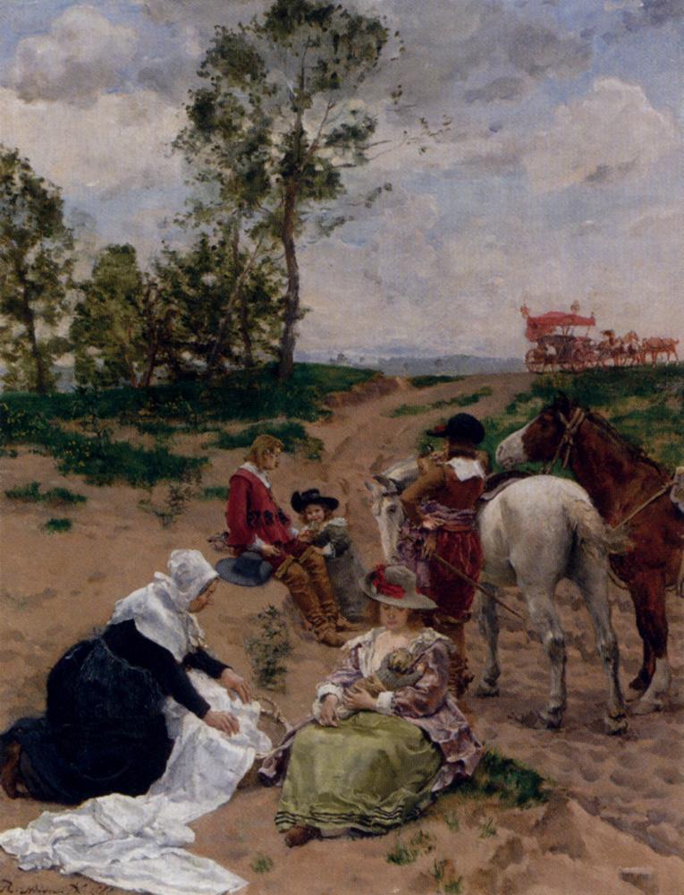 La Halte by Robert Von Steiger