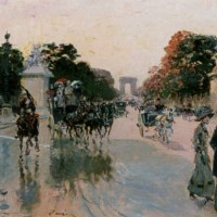 Les Champs Elysees au petit matin by Georges Stein