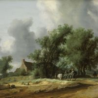 Road in the Dunes with a Passenger Coach by Salomon van Ruysdael