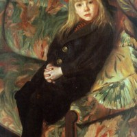 A Portrait of a Girl by Gustave Max Stevens