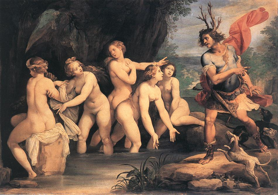 Diana and Actaeon by Giuseppe Cesari