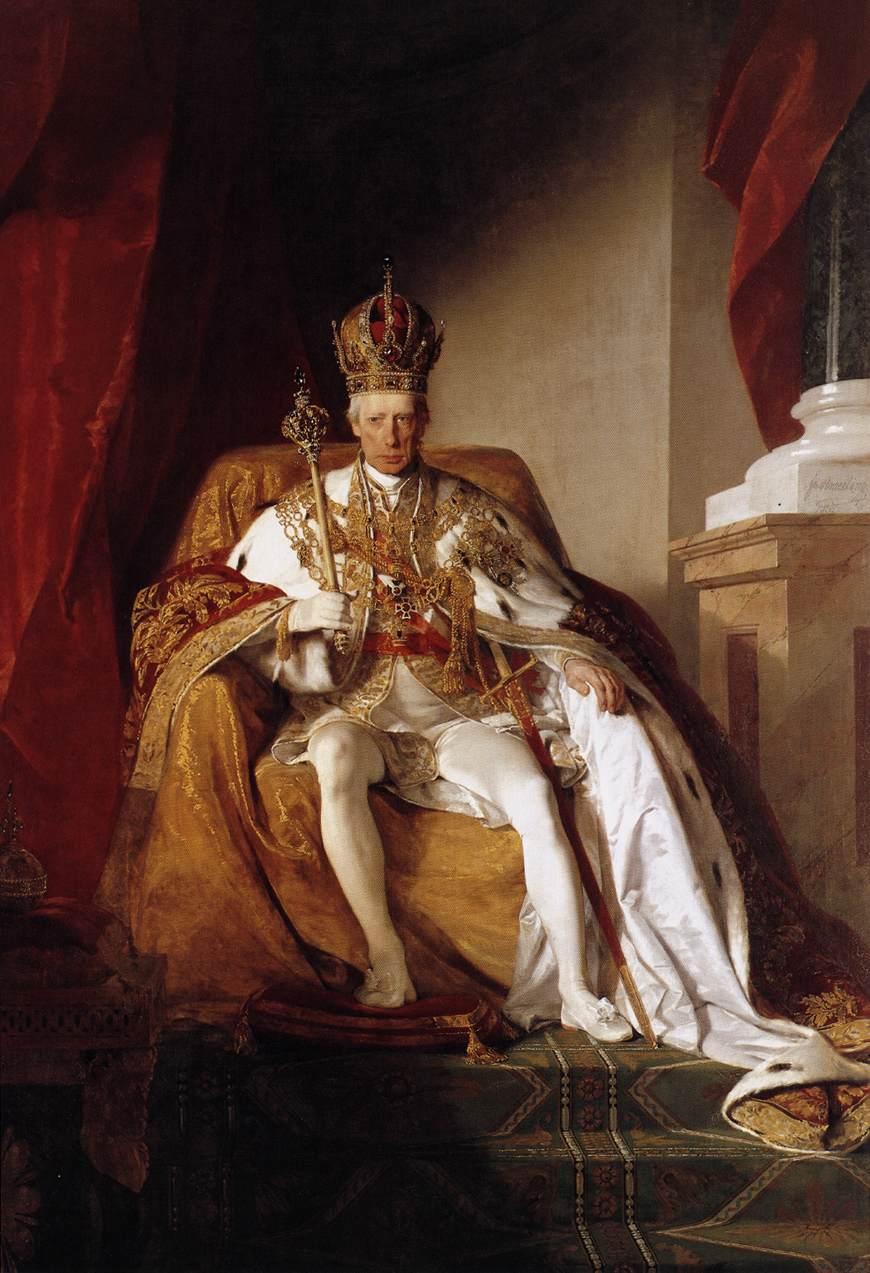 Emperor Franz I of Austria in his Coronation Robes by Friedrich von Amerling