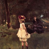 La Fillette au Canard by Alfred Stevens