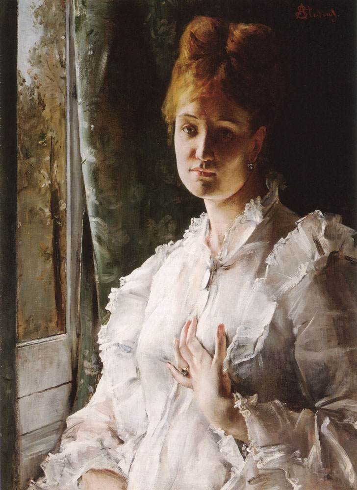 Portrait of a Woman in White by Alfred Stevens