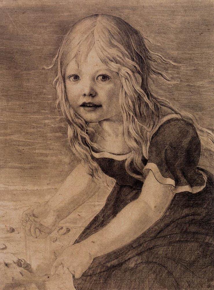 Portrait of the Artist's Daughter, Marie by Karl Friedrich Schinkel