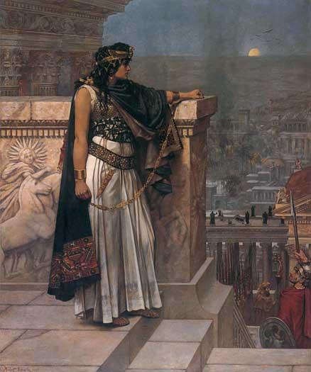 Queen Zenobia's Last Look upon Palmyra by Herbert Gustave Schmalz
