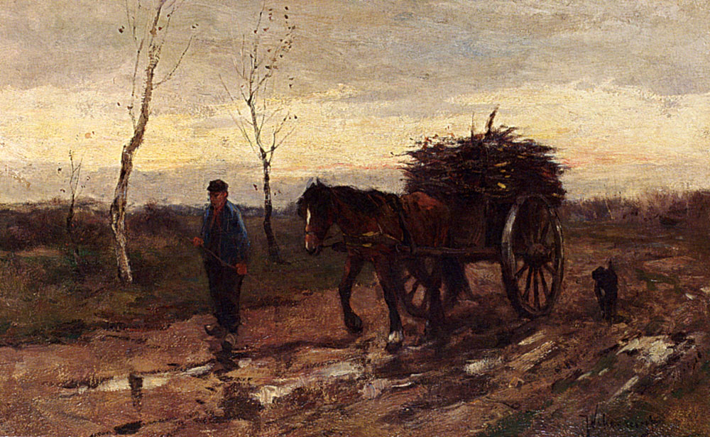 Returning Home by Johan Frederik Cornelis Scherrewitz