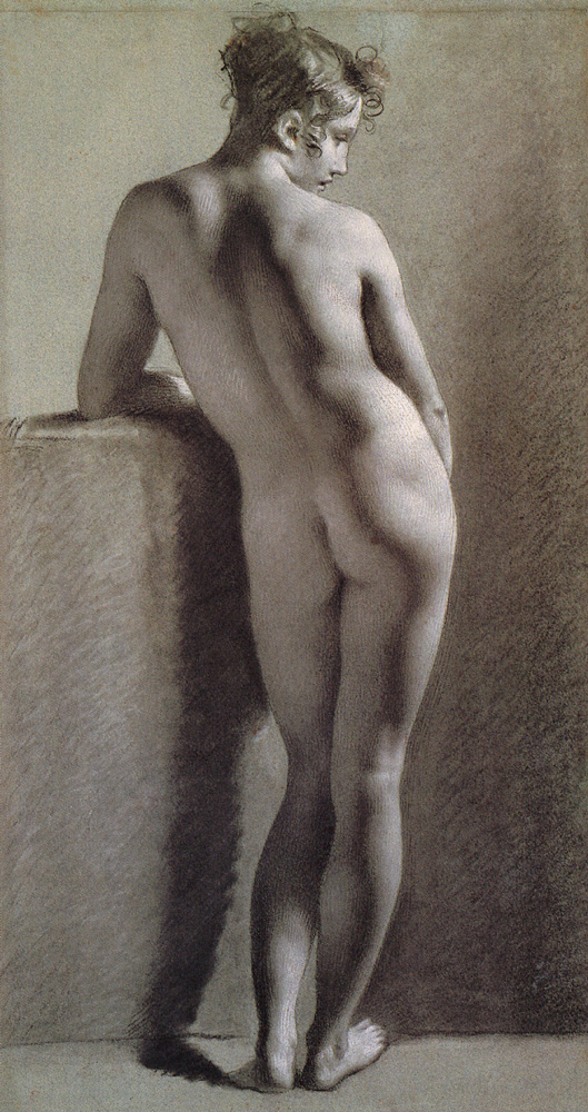 Standing Female Nude Seen from the Back by Pierre Paul Prudhon