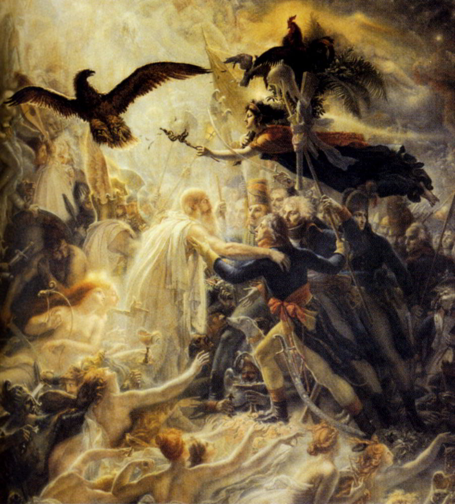 The Apotheosis Of The French Heroes Who Died For Their Country During The War For Freedom by Anne Louis Girodet de Roucy Triosson