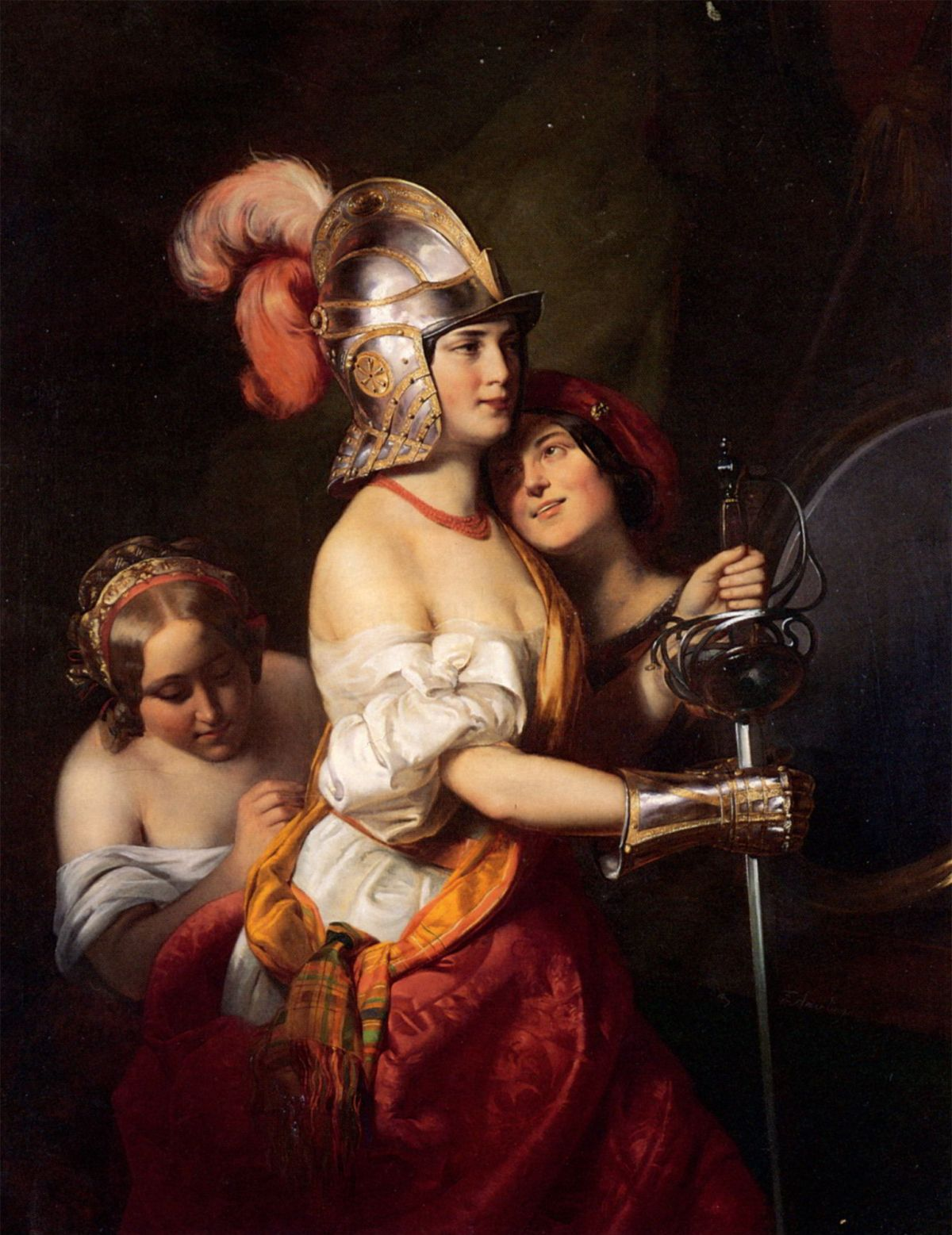 The Armed Maiden by Friedrich von Amerling