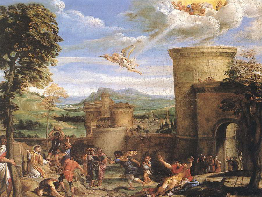 The Martyrdom of St. Stephen by Annibale Carracci
