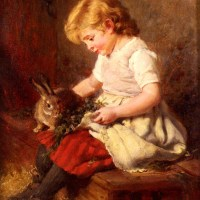 The Pet Rabbit by Felix Schlesinger