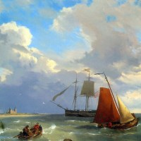 Shipping in a Choppy Estuary by Hermanus Koekkoek Snr