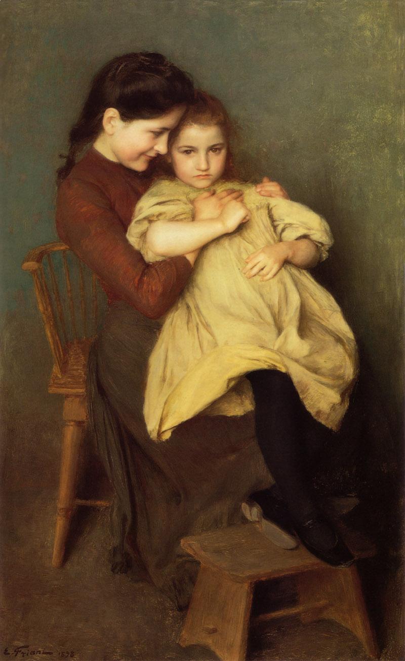Chagrin d Enfant by Emile Friant