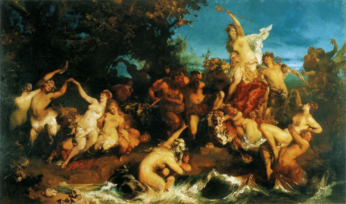 Der Triumph der Ariadne by Hans Makart