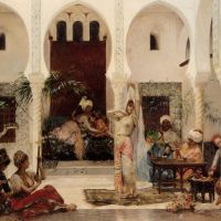 In the Harem by Edouard Frederic Wilhelm Richter