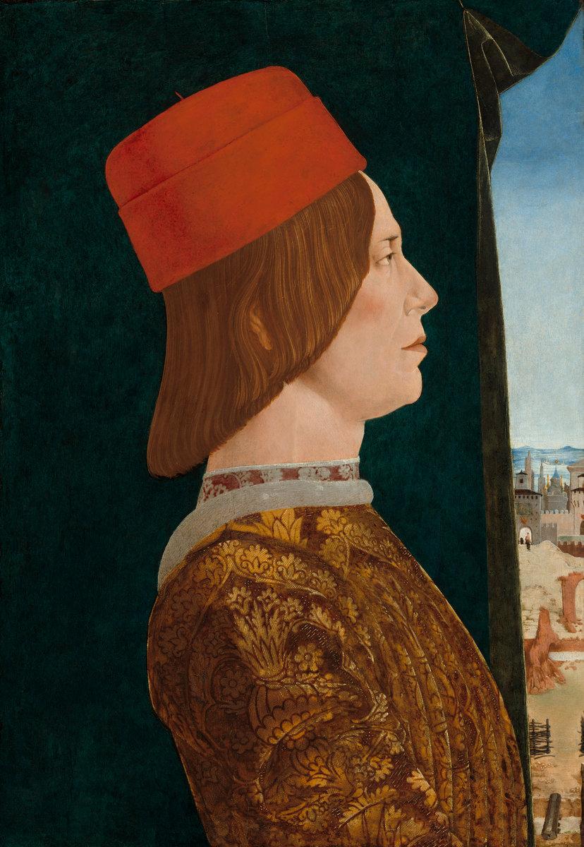 Portrait of Giovanni II Bentivoglio by Ercole de' Roberti