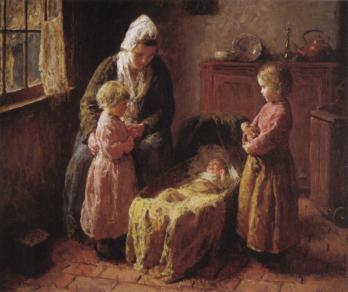 Admiring the Baby by Bernard Jean Corneille Pothast