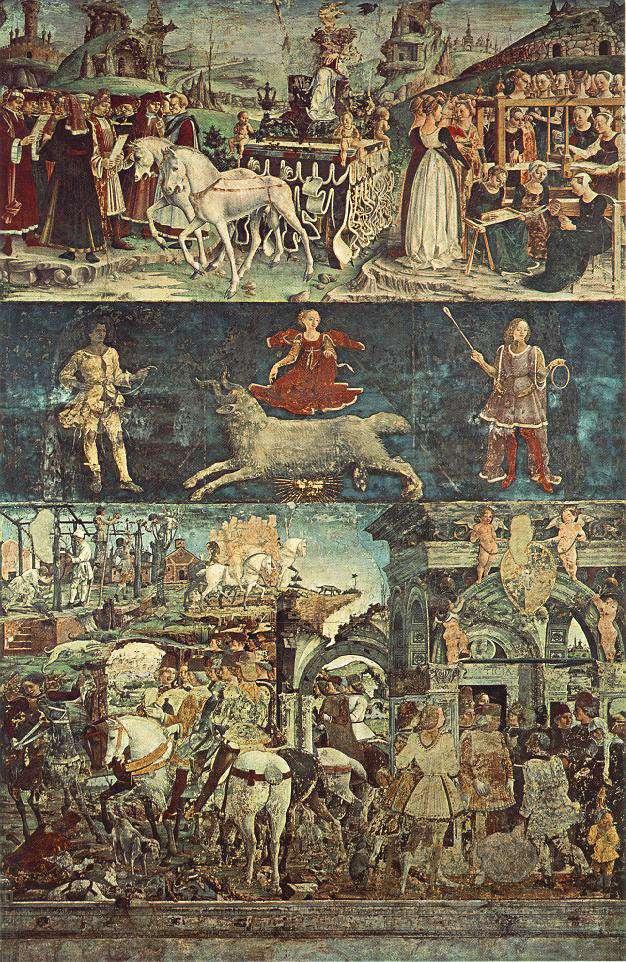 Allegory of March: Triumph of Minerva by Francesco del Cossa