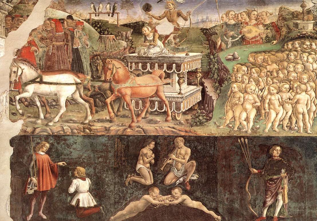 Allegory of May Triumph of Apollo by Francesco del Cossa