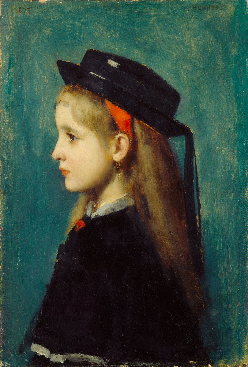Alsatian Girl by Jean Jacques Henner