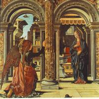 Annunciation and Nativity (Altarpiece of Observation) by Francesco del Cossa