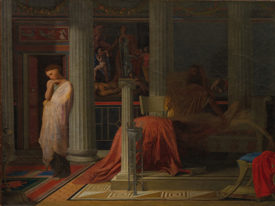 Antiochus and Stratonice by Jean Auguste Dominique Ingres