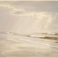 Beach with Sun Drawing Water by William Trost Richards