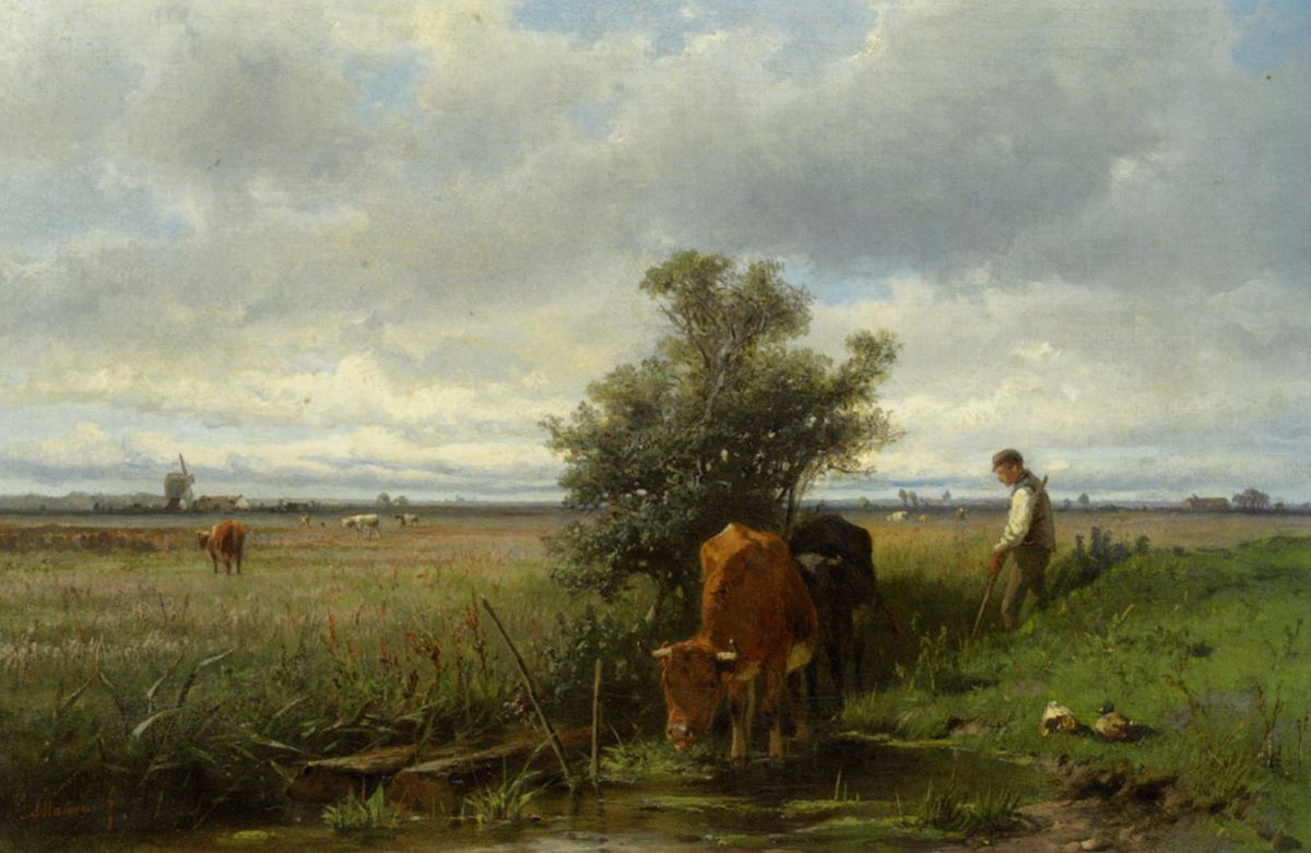 Cattle Watering by Anton Mauve