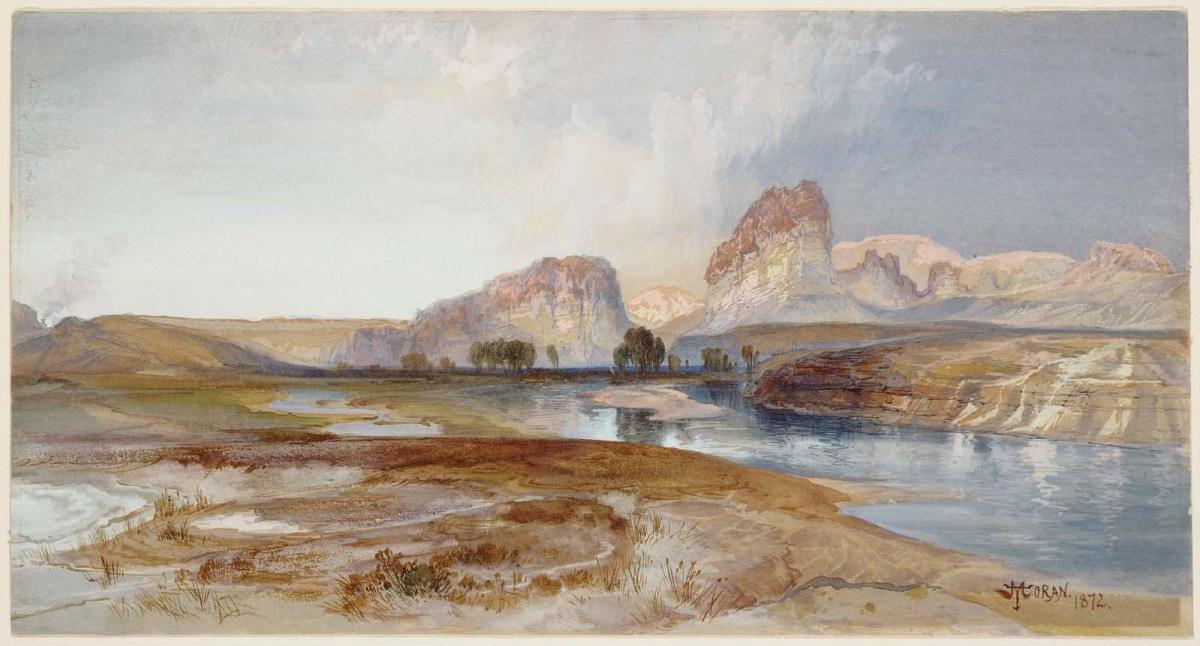 Cliffs Green River Wyoming by Thomas Moran