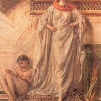 Dancing Girl Resting by Albert Joseph Moore