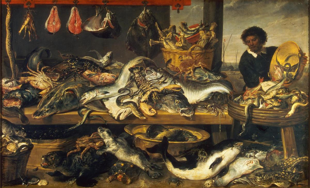 Fish Shop by Frans Snyders